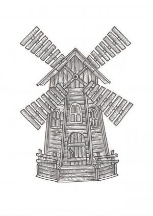 Мельница декоративная М-01
