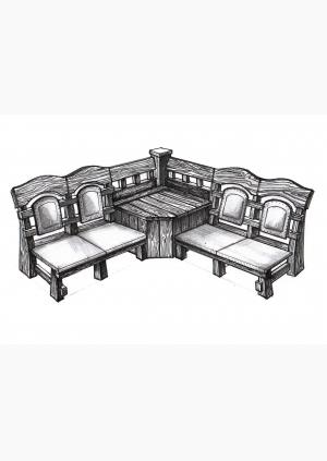 Кресло угловое к-03
