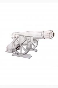 Пушка декоративная П-01