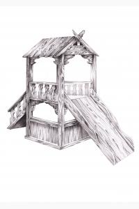 Детская горка-домик ЭП-11